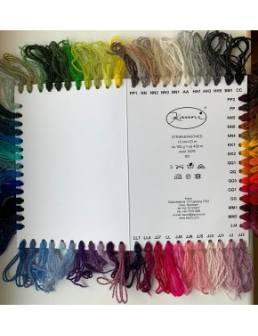 SCSYC Solid colour yarn samples chart