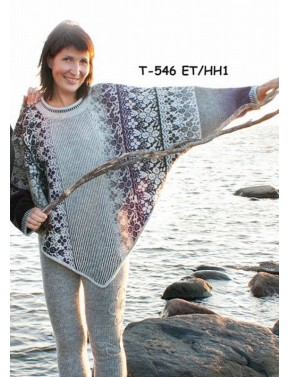 T-546 ET WOOL PONCHO WITH...