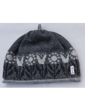 M-135 HH5 WOOL HAT WITH TULIPS