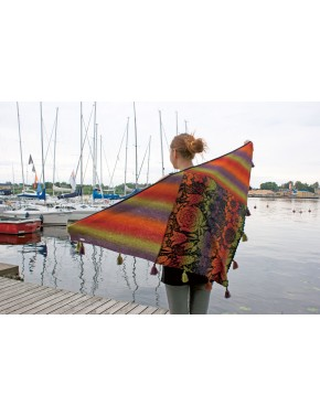 T-527 EX WOOL SHAWL WITH...