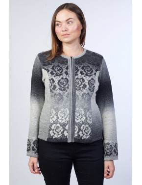 T-138 EC SHORT WOOL CARDIGAN