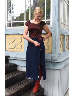 T-607 FF LONG WOOL SKIRT...