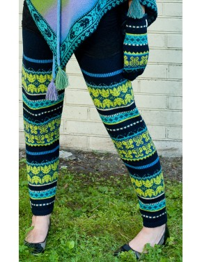 B-02 FF WOOL LEGGINGS WITH...