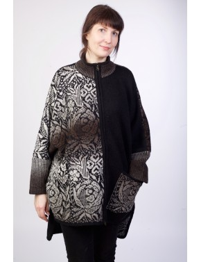 T-547 EPA LARGE WOOL PONCHO...