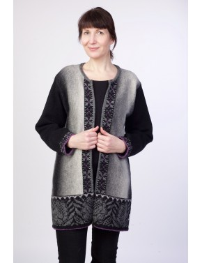 T-583 EC WOOL CARDIGAN WITH...