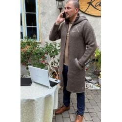 T-633 Long wool coat for...