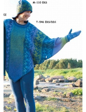 T-546 EKS WOOL PONCHO WITH...