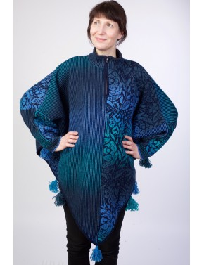 T-584 EZ WOOL PONCHO WITH...