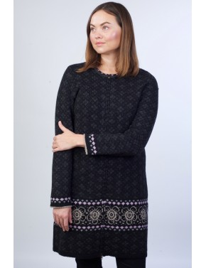 T-606 CC LONG WOOL CARDIGAN...