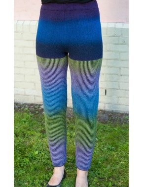 B-01 EL STRIPED WOOL LEGGINGS