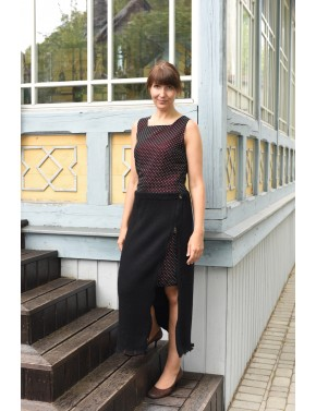 T-607 CC LONG WOOL SKIRT...