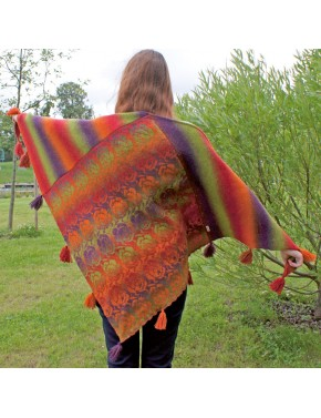 T-355 EX WOOL SHAWL WITH...