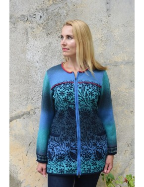 T-602 EZ WOOL CARDIGAN WITH...