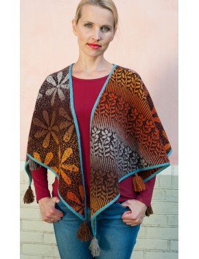T-588 EB WOOL SHAWL WITH...