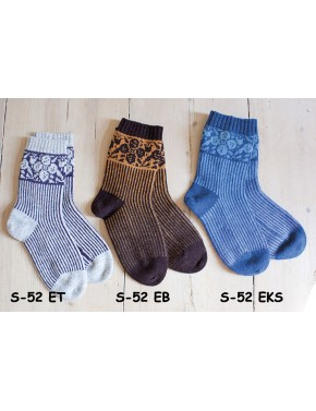 S-52 EB WOOL SOCKS WITH...