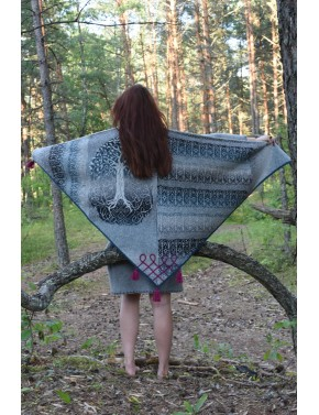 L-11 HH1 SHAWL WITH TREE OF...
