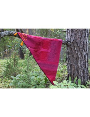 L-11 JJ7 SHAWL WITH TREE OF...