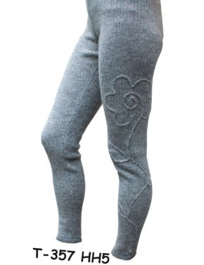 WOOL LEGGINGS WITH FLOWER...