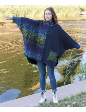 T-547 EFL LARGE WOOL PONCHO...